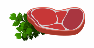Slice of red meat