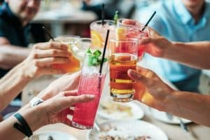People drinking alcohol
