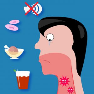 Phlegm in throat after eating